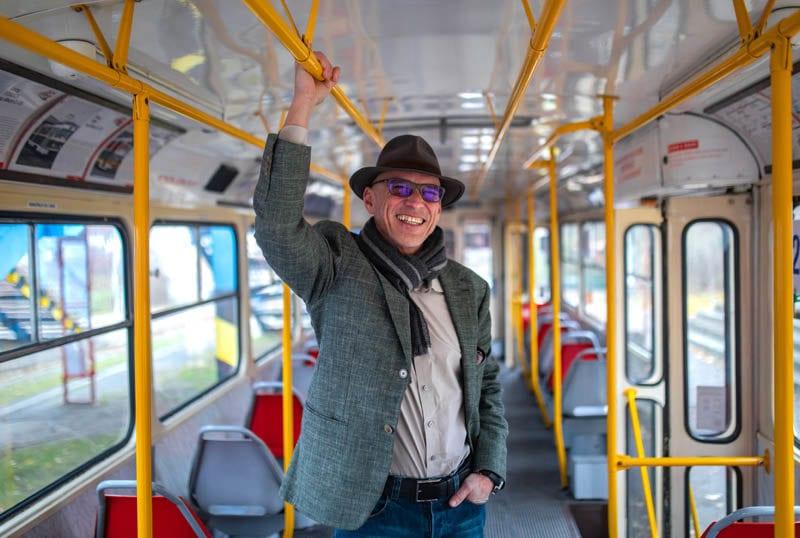 Džíny na míru selvedge denim tramvaj Patrik Diamant