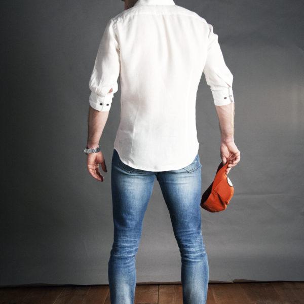 Bílá košile na míru pánská s krátkým rukávem