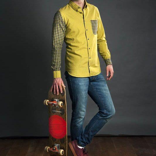 Pánská Košile Na Míru Žlutá kostka Patrik Diamant