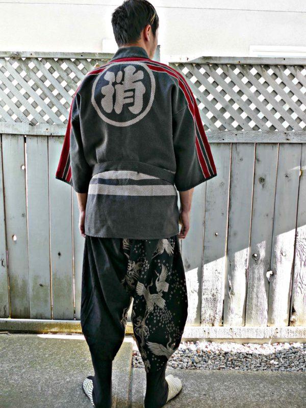 Vintage japonské hasičské kimono