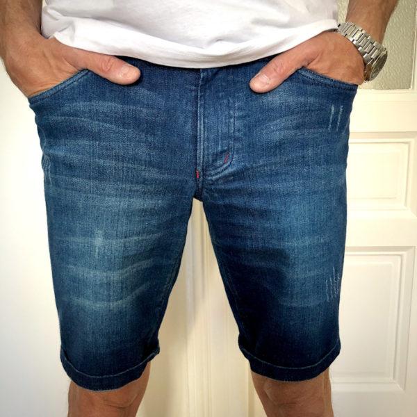 Tmavě modré džínové kraťasy na míru Patrik Diamant